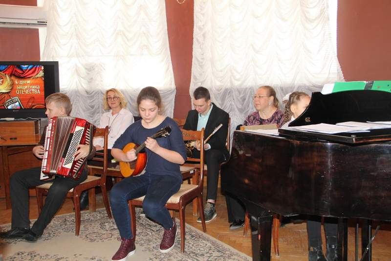 Концерт посвященный Дню защитника Отечества